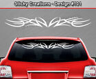 Design #101 Tribal Accent Windshield Decal Window Sticker Vinyl Graphic Car Art