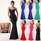 Vintage Mermaid Style Celebs Evening Party Gowns Homecoming Prom Dresses Ball 01
