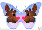 RUDOLF REINDEER Butterflies 25 x Edible Decorations Cup Cake Toppers CHRISTMAS