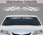 Design #102 Tribal Scallop Windshield Decal Window Sticker Vinyl Graphic Car Art