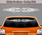 Design #103 Tribal Scallop Windshield Decal Rear Window Sticker Vinyl Graphic