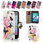 DESIGNER LEATHER WALLET CASE COVER FOR iPhone 6 (4.4 inch) 6 PLUS (5.5 inch)
