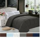 Goose Down Alternative Reversible Comforter - All Season Blanket - One Piece image