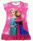 Disney Frozen Elsa & Anna Children Girls Dress Pajama Nightgown 3-10 Yr Hot Pink