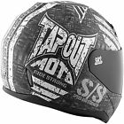 Speed and Strength SS700 Tapout Moto Full Face Motorcycle Helmet Black Charcoal