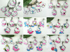 5x Pretty Little Hello Kitty in Pinks Dangle Charms for European Jewelry USA