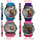 Disney Frozen Elsa Anna Girls Children Kids Child 3D Quartz Wrist Watch 4 Colors