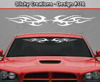 Design #116 Tribal Flame Windshield Decal Back Window Sticker Vinyl Graphic Car