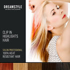 Clip In Hair Extension Streak Highlights 8 Pieces Set