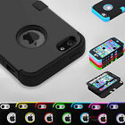 Black Hybrid Tuff Hard Rugged Heavy Duty Cover Case For Apple iPhone 5 5s