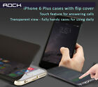 Rock iPhone 6, 6 Plus Cases w semi translucent covers touch for answering calls