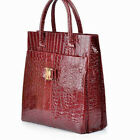 Fashional Luxury Lady OL Crocodile Pattern PU Leather Handbag Shoulder Bag Tote