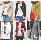 New Stylish Women Lapel Collar Inclined Zipper Slim Fit Jacket Blazer Coat WWX08