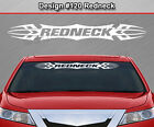 Design #120 REDNECK Tribal Scallop Windshield Decal Window Sticker Vinyl Graphic