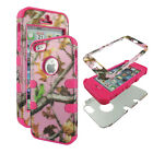 Hybrid Tuff Pink Duck Blind Kamo for Apple Iphone 5 Case Cover