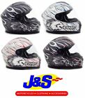 BKS BURNOUT MOTORCYCLE HELMET MOTORBIKE CRASH LID RACE RACING FULL-FACE NEW J&S