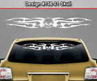 Design #156-01 SKULL Tribal Flame Windshield Decal Window Sticker Vinyl Graphic