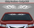 Design #147 Tribal Curls Spikes Windshield Decal Window Sticker Vinyl Graphic