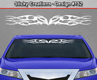 Design #152 Tribal Flame Windshield Decal Back Window Sticker Vinyl Graphic Car