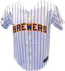 Milwaukee Brewers Baseball Jersey Blank Youth Stripe Black Tag on Ebay