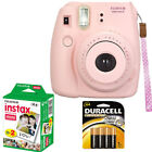 NEW Fuji instax mini 8 Fujifilm instant Film Camera Battery 20 Film All Colors