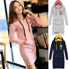 2015 Lady Casual Hooded Hoodies Coat Dress Sweatershirt Pullover Club Pub PARTY