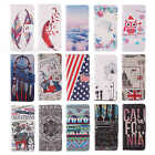 For Samsung Cellphone Wallet Card PU Leather Flip Stand Case Cover Rubber Skins