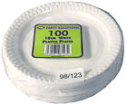 "WHITE PLASTIC PLATES 18cm, 23cm and 26cm 7"" 9"""
