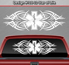 Design #105-02 STAR OF LIFE EMT EMS Rear Window Decal Sticker Graphic Tribal Car