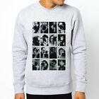 Camera People photo graph art pop design Men Grey Crewneck Sweatshirt