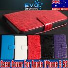 Croco Wallet Leather Flip Folio Protective Case Cover New For Apple iPhone 5/5S
