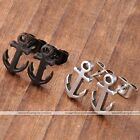 2pc Stainless Steel Sea Anchor Sailor Unisex Earrings Ear Stud Men Jewelry