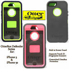 NEW AUTHENTIC OtterBox Defender Series Case For iPhone 5S 5 S Black Green Pink