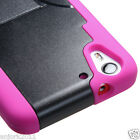 HTC Desire Eye M910 Hybrid Dual Layer T-Stand Case Skin Cover Black/Hot Pink