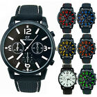 Men's Fashion Analog Silicone Stainless Steel Quartz Hours Sport Wrist Watch New