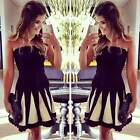 Fashion Women Off Shoulder Backless Club Sexy Party Cocktail Short Mini Dress S7