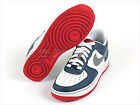 Nike Air Force 1 (GS) White/Cool Grey-Squadron Blue-Obsidian Youth-(d5)