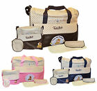 Todd Baby 4pc Diaper Nappy Changing Shoulder Bottle Food Bag Holder Set New