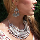 Gypsy Tribal Ethnic Turkish Belly Dance Bohemian Coin Statement Collar Necklace