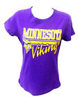 Minnesota Vikings Football Ladies Fitted Short Sleeve Shirt Purple New $9.99 USD on eBay