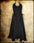 LONG BLACK STEAMPUNK VICTORIAN GOTHIC BORDELLO CORSET DRESS BURLESQUE JAWBREAKER