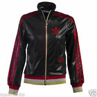Adidas Originals  Women's Chile 62 Rib TT Zip Jacket New Black Red Gold O55997