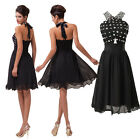 VINTAGE Sexy Short Chiffon Beaded Evening Party Cocktail Prom Graduation Dresses