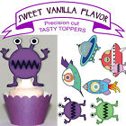 Alien Space Birthday Party EDIBLE Vanilla wafer Cupcake Toppers PRECUT cup cake