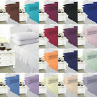 Flat Sheets Plain Polycotton Single Double King Super King or Pair Pillow Case