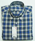 UNIQLO MEN EXTRA FINE COTTON BROADCLOTH CHECK LONG SLEEVE SHIRT BLUE (134064)