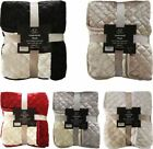 Flannel Sherpa Throw Blanket Double Size Bed 150 x 200 Animal Print Luxury New