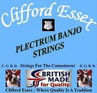 CLIFFORD ESSEX PLECTRUM BANJO STRINGS. HEAVY. WOUND 3RD & 4TH. MADE IN BRITAIN.