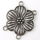 15/75pcs 144999 Petals Flowers Plated Antique Silver Alloy Connectors Pendants