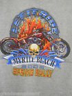 2003 Myrtle Beach SC Spring Rally Adult Medium T-Shirt Mororcycle Skull Flames